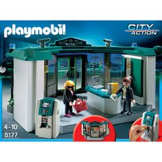 Playmobil - City Action - Bank z bankomatem, klocki Bank Safe, Playmobil Sets, Weird Toys, Action, Babies R Us, Best Mobile, Early Education, Toys R Us, Kids And Parenting