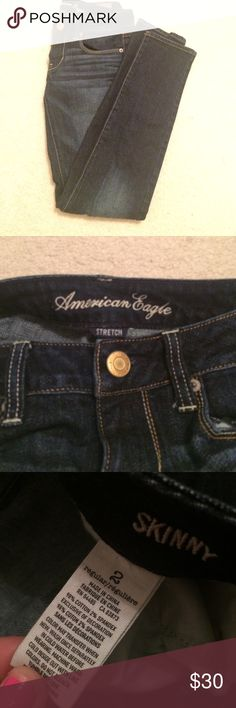 AE Skinny Jeans Dark wash skinny jeans! American Eagle Outfitters Jeans Skinny