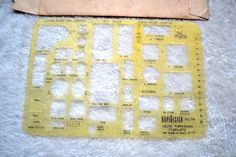 """RapiDesign NO.714 House Furnishing Template For Plans to Scale 1/4""""-1'0"""" #RapiDesignTemplate"""