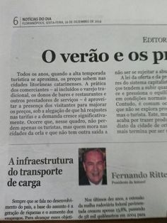 Editorial publicado Noticias do Dia