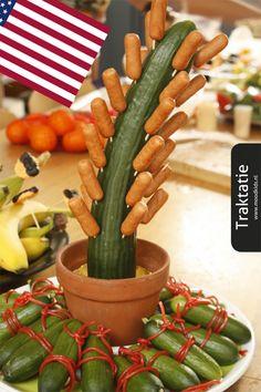thema traktatie cactus, gezonde cactus traktatie