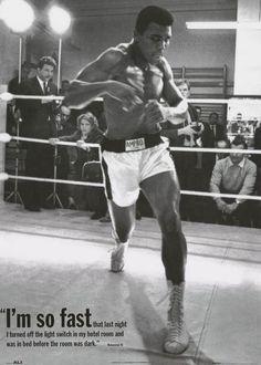 Muhammad Ali I'm So Fast Quote Boxing Sports Poster 25x35 – BananaRoad