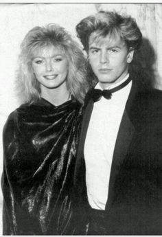 Janine Andrews & John Taylor, how many Taylors did she have? Hair Color Blue, Blonde Color, Nigel John Taylor, Bebe Buell, Renee Simonsen, British Celebrities, Ron Woods, Kim Cattrall, Simon Le Bon