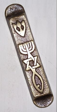 Jewish Mezuzah Case With Flowers Israel Judaica Judaism