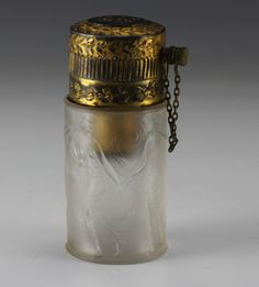 1924 Rene Lalique / Marny French Art Glass Perfume Bottle Atomizer<br/>Perfume Bottles - 63542