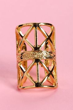 #Lulus                    #ring                     #Caged #Ring #Sings #Gold #Ring                     Caged Ring Sings Gold Ring                                                    http://www.seapai.com/product.aspx?PID=1815084