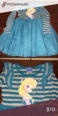 Girls Disney frozen Elsa dress Tutu material on bottom Disney Dresses Casual