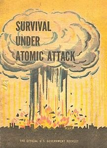 Survival Under Atomic Attack, a U. government booklet published by the Executive Office of the President, the National Security Resources Board, and the Civil Defense Office, Bomba Nuclear, Nuclear War, Nuclear Fallout Shelter, Atomic Age, Tumblr, Cold War, Vintage Ads, Vintage Vibes, Vintage Ephemera