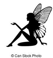 Silhouette of fairy - stock vector Fairy Silhouette, Silhouette Clip Art, Silhouette Images, Graphics Fairy, Free Graphics, Fairy Stencil, Fairy Templates, Fairy Clipart, Fairy Lanterns