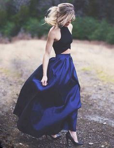 Two Pieces Prom Dresses, 2017 Prom Dress,Off-shoulder Prom Dress,Dresses For Prom,Fashion Prom Dress,BD001