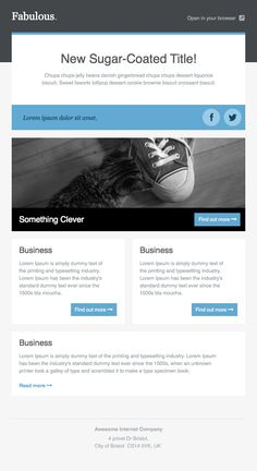 Newsletter Templates, Free Email Templates --- look at more, but has serious potential!
