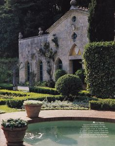 The orangery on the property of Giancarlo Giammetti's villa in Tuscany. Photo by Oberto Gili.