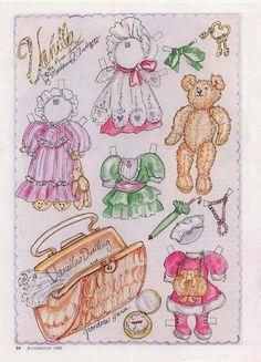 Vanilla the Purse Dweller Teddy paper doll