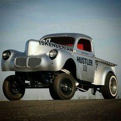 Hustler III pickup truck drag racer