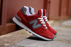 New Balance 574CPA Made in USA Red Grey Teal
