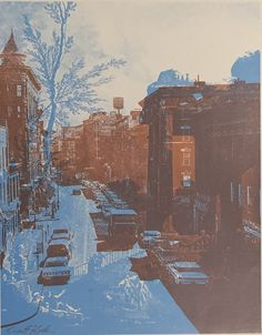 Bronx with a Ruin lithograph by Scott Hyde, 1970 Contemporary Photography, Art Photography, Illustrations, Illustration Art, Museum Architecture, Design Museum, Printmaking, Amazing Art, Graphic Art
