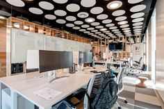 MCA has designed the new offices of gym management software company Wodify, located in Lisbon, Portugal. Wodify's Lisbon offices are located in Parque das Visual Merchandising, Ceiling Detail, Open Office, Lisbon Portugal, Design Furniture, Stores, Vanity, Modern, House