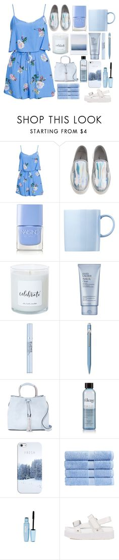 """""""LOVE YOU TILL THE DAY I DIE + GIVEAWAY RESULT"""" by questionable-desires ❤ liked on Polyvore featuring MINKPINK, Nails Inc., Rosenthal, Estée Lauder, Elemis, Caran d'Ache, French Connection, philosophy, Casetify and Christy"""