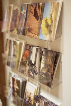 notecard and postcard display