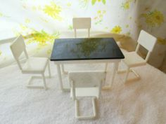 Vintage Ideal Young Decorator Kitchen Dining Table and 4 Chairs 5 Pc Set Lot