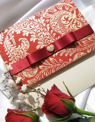 Red and Gold luxury #wedding #stationary