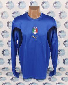 ITALY NATIONAL TEAM 2006 2008 FOOTBALL SOCCER SHIRT JERSEY LONG SLEEVE PUMA L #PUMA #Italy