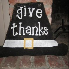 Thanksgiving Pilgrim Door Hanger. $35.00, via Etsy.