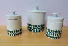 Retro Style THOMAS porcelain pots with lids 60's 70's ROSENTHAL Germany