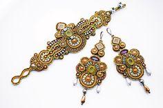 Soutache jewelry set. Soutache handmade by Soutachebypanka on Etsy
