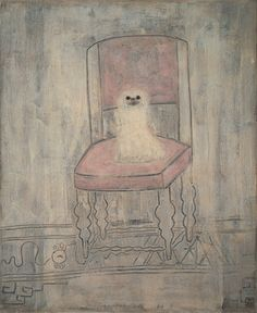 San Yu, White Pekinese on a Chair, July 1930