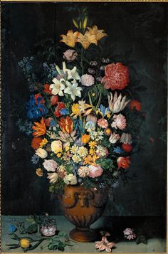 Still Life with Flowers in a Vase Ambrosius Bosschaert the Younger