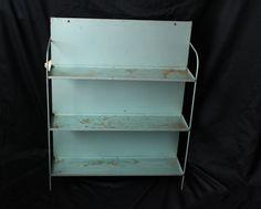 Vintage Metal Industrial Shelf with by PhoebesTreasureChest, $74.95