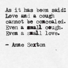 Love cannot be concealed