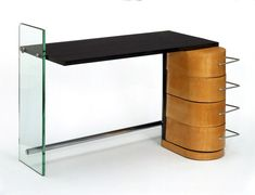 Desk (wood, chrome and glass), designed by Denham Maclaren, ca. 1929, Museum number: W.20-1979 - Victoria and Albert Museum, London, United Kingdom.