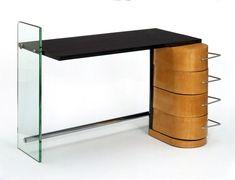 Desk (wood, chrome and glass), designed by Denham Maclaren, ca. 1929, Museum number: W.20-1979 - Victoria and Albert Museum, London, United Kingdom.