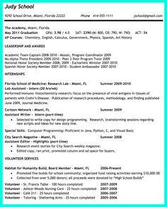 College admission technical theatre resume