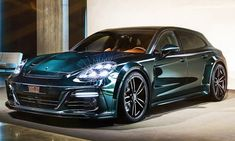 German tuner TechArt turned the Porsche Panamera Sport Turismo Turbo into a highly modified wagon you'll love or hate. Porsche Carrera, Porsche Panamera 2018, Cayman Porsche, Porsche Panamera Turbo, Porsche Girl, Porsche Sports Car, 4 Door Sports Cars, Sport Cars, Station Wagon