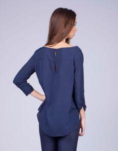 Camisa azul marina - Shana