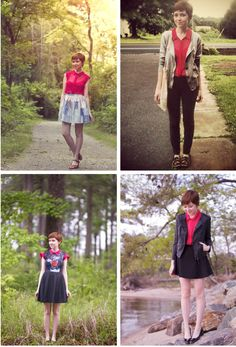 The Clothes Horse: Sunday Remix red blouse