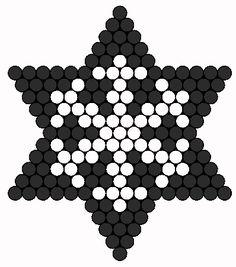 Snowflake Perler Patrón bolas | bolas Sprites | Vacaciones fusibles de bolas Patrones