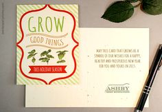 Christmas in july new business holiday cards for 2015 holiday how seed paper business holiday cards can promote your brand and helpful message suggestions for customizing the inside greeting reheart Choice Image