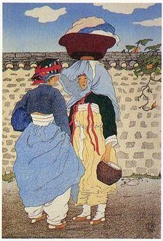 Woodblock by Elizabeth Keith (1887-1956)