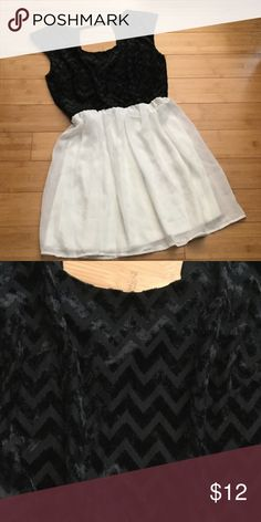 """Dress by Trixxi, Sz L 17 1/2"""" bust, 14 1/2"""" waist, 31 1/2"""" length. Waist is elastic, bottom is lined. Pull on,no zipper. Top has velour feel/look. No snags or stains. Belt loops but no belt. 100% polyester Trixxi Dresses"""
