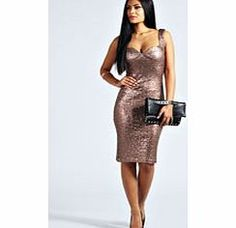 boohoo Kimmie Sequin Fitted Cups Midi Dress - bronze This stunning sequin bodycon dress couldn't be more Christmas party if it tried. We'll be wearing it with an edgy embellished clutch , classic courts and cool arm cuff . http://www.comparestoreprices.co.uk/dresses/boohoo-kimmie-sequin-fitted-cups-midi-dress--bronze.asp