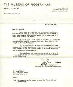 Favourite Rejection letters sent to famous people . A great reminder to hold chin up and carry on.