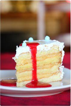 Gâteau 4 étages vanille et citron