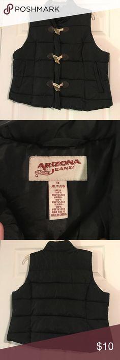 Arizona puffer vest Black Arizona puffer vest.  Size Junior 1X. Worn a few times but in good condition Arizona Jean Company Jackets & Coats Puffers