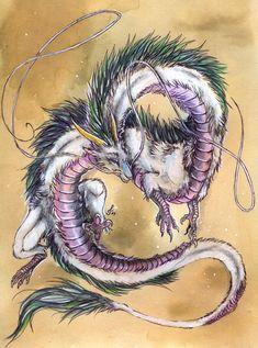 Haku by Isvoc on deviantART  Beautiful watercolor of Haku!