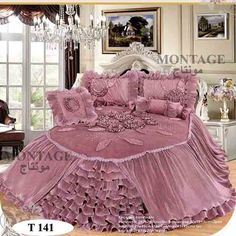 montage80@hotmail.com للتواصل عبر البلاك بيري PIN : 26FD1CCF Dream Bedroom, Home Bedroom, Bedroom Furniture, Bedroom Decor, Pink Bedrooms, Cool Beds, Luxurious Bedrooms, Beautiful Bedrooms, Bed Covers