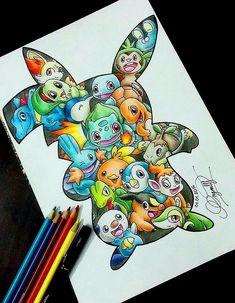 pokemon drawing - Drawing Tips Disney Drawings, Cartoon Drawings, Cartoon Art, Cute Drawings, Drawings Of Pokemon, Pokemon Sketch, Pokemon Fan Art, Pokemon Tips, Pokemon Pokemon